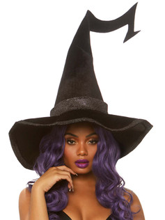 Glitter Trim Witch Hat
