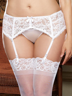 Stretchy Lace Garter Belt