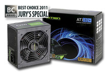 620W (ATX12V v2.31) Power Supply - BEST CHOICE AWARD 2011 - Gaming & Overclocking Grade with Active PFC. Japanese capacitors for stability and reliability. High output ration of +12V rail (max. 92.9% of total wattage can be used as +12V output). Complies with High Efficiency 82plus Bronze. Meets EUP 2010 standard. Multi-Link Connector (MLC) designed for linking power supplies for power expansion. Features: 4PIN x6, Floppy x1, SATA x9, ATX 20+4 x1, PCI-E 6+2 x2 and EPS 12V 4+4 x1