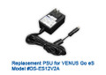 VENUS eS2/eS5 Replacement 12V Power AC power adapter (4-pin). Input: 100-240Vac, 1.2A(Max), 50-60Hz. Output: 5V/2A, 12V/2A. (Not compatible to VENUS DS3R)