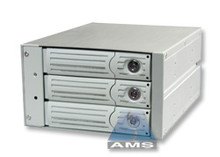 "3-in-2 SATA/SATA Backplane Module (beige), steel/aluminum, steel frames, fits in two 5.25"" bay. 150MB/s max speed."