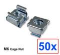(CNM6) M6 Cage Nut w/ 50pcs