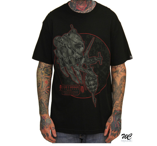 Sullen GXS Shrapnel t-shirt in black.