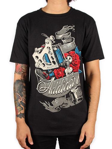 Addictive Machine Rose T-Shirt