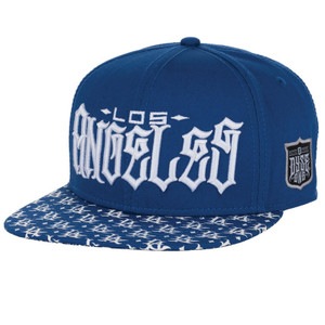 Dyse One Big Los Snapback Hat Blue