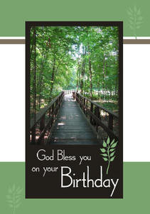 "God Bless You on Your Birthday - 5"" x 7"" KJV Greeting Card ..."