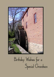 "Birthday Wishes for a Special Grandson - 5"" x 7"" KJV Greeting Card"