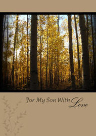 "For Our Son with Love - 5"" x 7"" KJV Greeting Card"