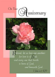 "On Your Anniversary - 5"" x 7"" KJV Greeting Card"