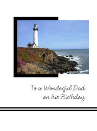 "To a Wonderful Dad on his Birthday - 5"" x 7"" KJV Greeting Card"