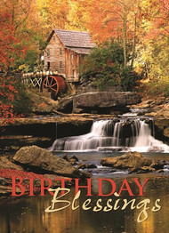 KJV Boxed Cards - Birthday, Waterfalls by Heartwarming Thoughts