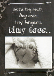 KJV Boxed Cards - Baby, Tiny Toes by Heartwarming Thoughts