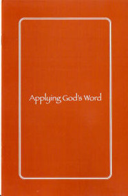 Applying God's Word - Book