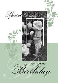 "Special Blessings on Your Birthday5"" x 7"" KJV Greeting Card"