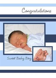 "Congratulations - Sweet Baby Boy - 5"" x 7"" KJV Greeting Card"