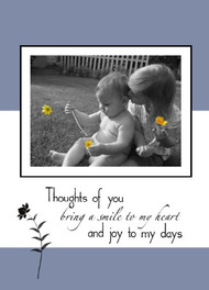 "Pure - Thinking of you - 5"" x 7"" KJV Greeting Card"