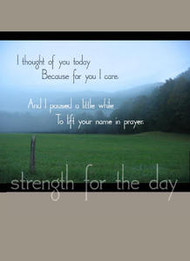 """To Lift your Name in Prayer - 5"""" x 7"""" KJV Greeting Card"""