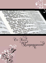 "On Your Engagement - 5"" x 7"" KJV Greeting Card"