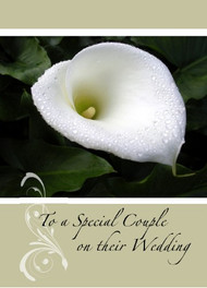 """To a Special Couple on Their Wedding - 5"""" x 7"""" KJV Greeting Card"""