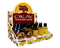 Castor Oil Display - Helps Soothe Scalp & Skin, Helps Naturally Grow Strong Healthy Hair, Helps Balance Oily Hair, Stimulate Hair Follicles - For all Hair Types- Made in USA- (3Pc Of Each Castor Total 15Pcs)