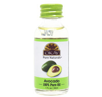 Avocado Oil 100% Pure for Hair & Skin-High In Nutrients- Vitamins A, B, D and E- Helps Hair & Skin Lock In Moisture-Prevents Aging Of Skin -For All Hair Textures And All Skin Types- Silicone, Paraben Free - Made in USA   1oz / 30ml