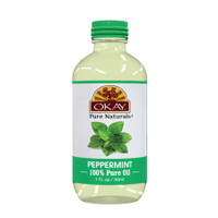 Peppermint Oil 100% Pure for Hair & Skin -Helps Balance Oily Hair- Stimulates Hair Folicles-Great For Soothing Skin & Moisturizing - For All Hair Textures And All Skin Types- Silicone, Paraben Free - Made in USA 1oz / 30ml