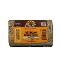 African Black Soap  from Ghana with Shea Butter-Antiseptic Nourishing  -Natural Remedy- Cleanses Skin- For Conditions Like Acne, Blemishes, & Psoriasis-  Sulfate, Silicone, Paraben Free For All Skin Types - Created In Ghana- Processed In USA 8.5oz