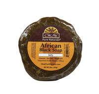 African Black Soap Original from Ghana with Shea Butter-Antiseptic Wash -Natural Remedy For Cleansing Skin- For Treatment Of Skin Conditions Like Acne, Blemishes, & Psoriasis-  Sulfate, Silicone, Paraben Free For All Skin Types - Made in USA 9oz