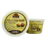 Shea Butter Raw Yellow Chunky- All Natural, 100% Pure- Unrefined- Daily Skin Moisturizer For Face & Body-  Softens Tough Skin- Moisturizes Dry Skin- Adds Shine & Luster To Hair-Alleviates Scalp Dryness   10oz / 283Gr