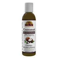 Coconut Hot Oil Treatment Deep Hydrating  - Conditioning And Nourishing - Prevents  Breakage-  Restores Hair - Smoothes Cuticle-Improves Hair Appearance- Silicone, Paraben Free For All Hair Types and Textures - Made in USA 6oz / 177ml