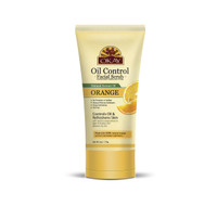 Orange Facial Scrub for Oil Control- Deeply Exfoliates- Removes Dirt- Leaves Skin Freshly Cleansed, Moisturized & Energized- Helps Clear Blemishes, Minimize Pores, Leaves Skin Smooth - Alcohol, Sulfate, Paraben Free - Made in USA  6oz