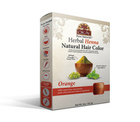 Herbal Henna Hair Color Orange- Natural Hair Coloring Solution- Free Of Harmful Chemicals -Provides Rich Vibrant Color-  Adds Nourishing Properties - Leaves Hair Soft And Shiny- For All Hair Types & Textures- Made In USA   2oz