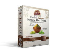 Herbal Henna Hair Color Brown- Natural Hair Coloring Solution- Free Of Harmful Chemicals -Provides Rich Vibrant Color-  Adds Nourishing Properties - Leaves Hair Soft And Shiny- For All Hair Types & Textures- Made In USA   2oz