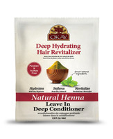 Natural Henna Leave In Conditioner - Helps Refresh, Revitalize, And Add Softness To Hair - Sulfate, Silicone, Paraben Free For All Hair Types and Textures - Made in USA  1.5oz