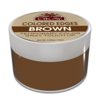OKAY Colored Edges Brown - No Flaking  All Day Hold - Conceals Gray New Growth Plus Edge Control - For Hairline, Sideburns - Silicone, Paraben Free For All Hair Types and Textures -  0.5oz / 15ml