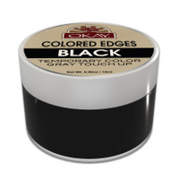 OKAY Colored Edges Black - No Flaking  All Day Hold - Conceals Gray New Growth Plus Edge Control - For Hairline, Sideburns - Silicone, Paraben Free For All Hair Types and Textures -  0.5oz / 15ml