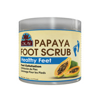 Papaya Foot Scrub - Contains Rejuvenating Enzymes That Promote Healthy Skin- Thoroughly Exfoliates Rough Skin On The Feet, Leaving Feet Velvety Soft & Renewed - No Parabens, No Silicones, No Sulfates - For All Skin Types -  6oz / 170gr