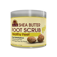 Shea Foot Scrub - Provides Deep Moisturizing And Nourishment.- Thoroughly Exfoliates Rough Skin On The Feet, Leaving Feet Velvety Soft & Renewed - No Parabens, No Silicones, No Sulfates - For All Skin Types -  6oz / 170gr