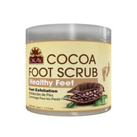 Cocoa Foot Scrub- Provides Deep Nourishment And Moisture-Thoroughly Exfoliates Rough Skin On The Feet, Leaving Feet Velvety Soft & Renewed - No Parabens, No Silicones, No Sulfates - For All Skin Types - Made in USA 6oz / 170gr