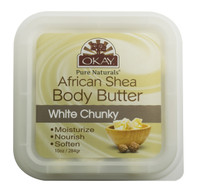 Shea Butter White Chunky Deep Moisturizing - All Natural, 100% Pure- Refined- Rich In Nutrients, Keeps Skin Soft ,Promotes Healthy Skin - Silicone, Paraben Free For All Skin Types. Made in USA10 oz