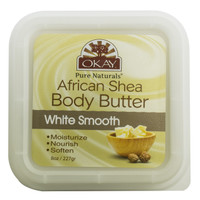 Shea Butter White Smooth Deep Moisturizing- All Natural, 100% Pure- Refined- Rich In Nutrients, Keeps Skin Soft ,Promotes Healthy Skin - Silicone, Paraben Free For All Skin Types. Made in USA 8 oz