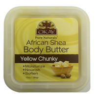Shea Butter Yellow Chunky Deep Moisturizing- All Natural, 100% Pure- Unrefined-Rich In Nutrients, Keeps Skin Soft ,Promotes Healthy Skin - Silicone, Paraben Free For All Skin Types. Made in USA 10 oz
