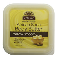 Shea Butter Yellow Smooth Deep Moisturizing- All Natural, 100% Pure- Unrefined- Rich In Nutrients, Keeps Skin Soft ,Promotes Healthy Skin - Silicone, Paraben Free For All Skin Types. Made in USA 8 oz