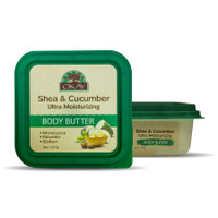 Shea & Cucumber Ultra Moisturizing Body Butter- Rich In Nutrients, Keeps Skin Soft ,Promotes Healthy Skin - Silicone, Paraben Free For All Skin Types. Made in USA 8oz/277gr