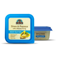 Shea & Papaya Ultra Moisturizing Body Butter- Rich In Nutrients, Keeps Skin Soft ,Promotes Healthy Skin -Silicone, Paraben Free For All Skin Types. Made in USA 8oz/277gr