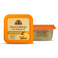 Shea & Mango Ultra Moisturizing Body Butter- Rich In Nutrients, Keeps Skin Soft ,Promotes Healthy Skin - Silicone, Paraben Free For All Skin Types. Made in USA 8oz/277gr
