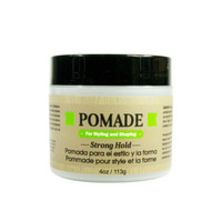 Pomade for Styling and Shaping -Strong Hold- for Men - Formulated For Men, Helps Polish, Style, And Hold, Hair And Beard -Silicone, Paraben Free For All Hair Types & Textures. Made in USA 4oz/118ml