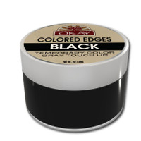 Colored Edges - Black - No Flaking  All Day Hold - Conceals Gray New Growth Plus Edge Control - For Hairline, Sideburns - Silicone, Paraben Free For All Hair Types and Textures -  Made in USA  2 oz