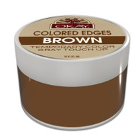 Colored Edges - Brown - No Flaking  All Day Hold - Conceals Gray New Growth Plus Edge Control - For Hairline, Sideburns - Silicone, Paraben Free For All Hair Types and Textures -  Made in USA  2 oz