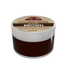 Colored Edges - Dark Brown - No Flaking  All Day Hold - Conceals Gray New Growth Plus Edge Control - For Hairline, Sideburns - Silicone, Paraben Free For All Hair Types and Textures -  Made in USA  2 oz